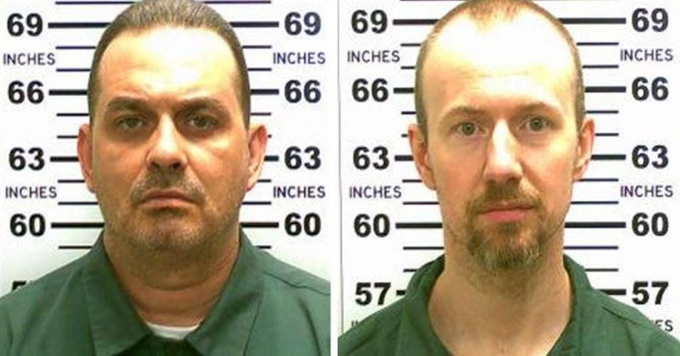 A polícia americana realizou uma poderosa operação neste domingo, com cachorros e helicópteros, para capturar dois condenados por assassinato que escaparam da principal prisão de segurança máxima do estado de Nova York, após perfurarem as paredes de suas celas