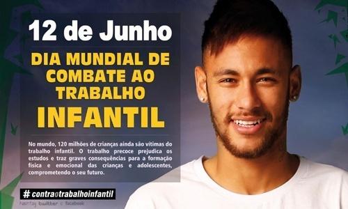 8.jun.2015 - Neymar estrela campanha contra o trabalho infantil