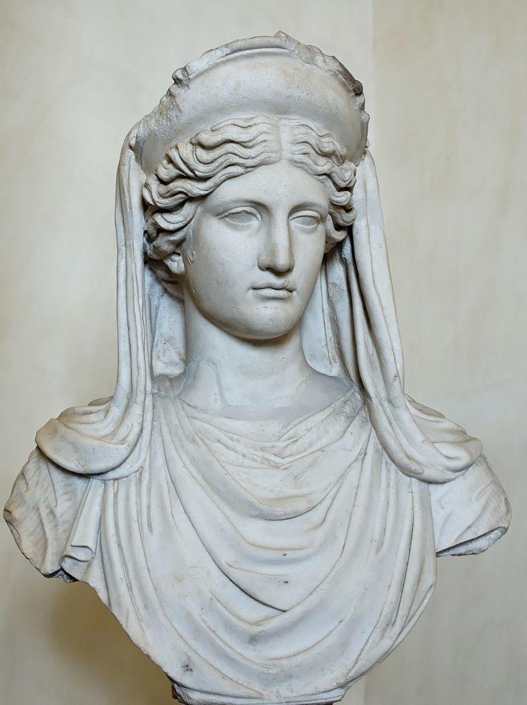 Busto de Deméter, deusa grega das colheitas. Cópia romana de original grego do século IV a.C.