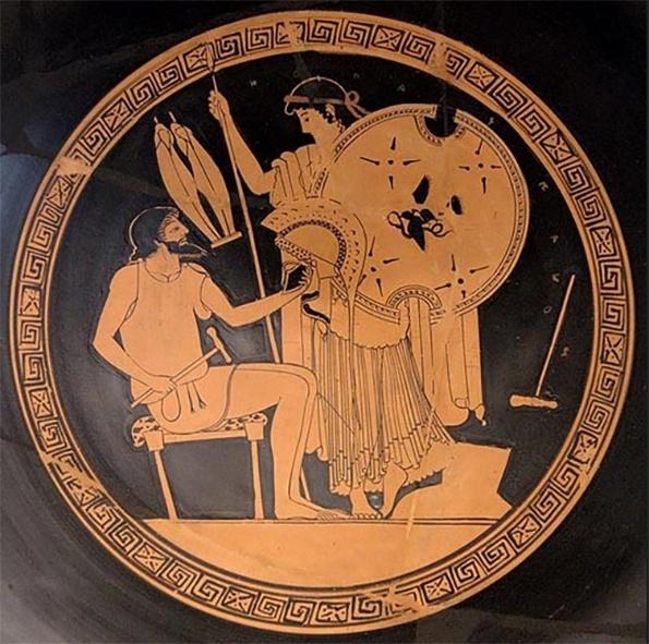 O deus grego Hefestos - o Vulcano dos romanos - era o deus do fogo, dos metais e da metalurgia.