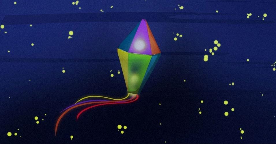 Arte para álbum curiosidades sobre a Festa Junina, balão, balões