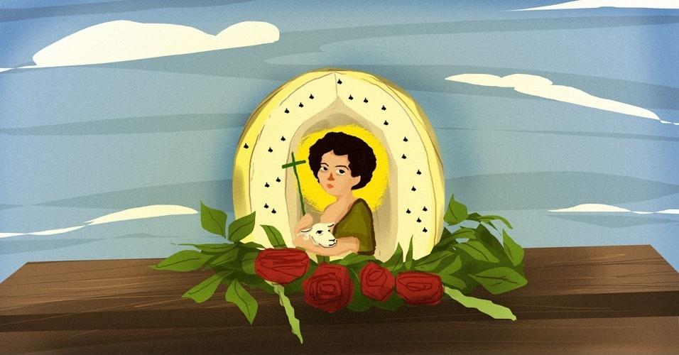 Arte para álbum curiosidades sobre a Festa Junina, capelinha de melão
