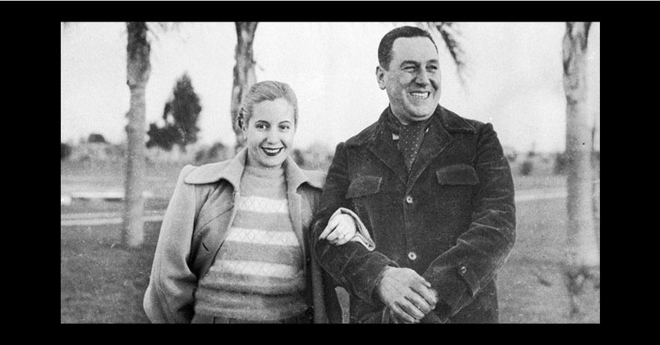 Evita Perón e Juan Domingo Perón
