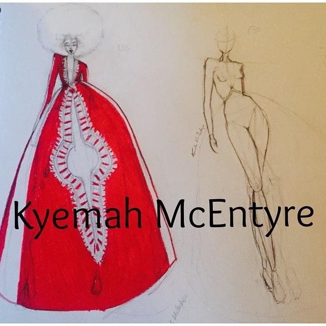 Kyemah McEntyre desenhou seu próprio vestido de formatura