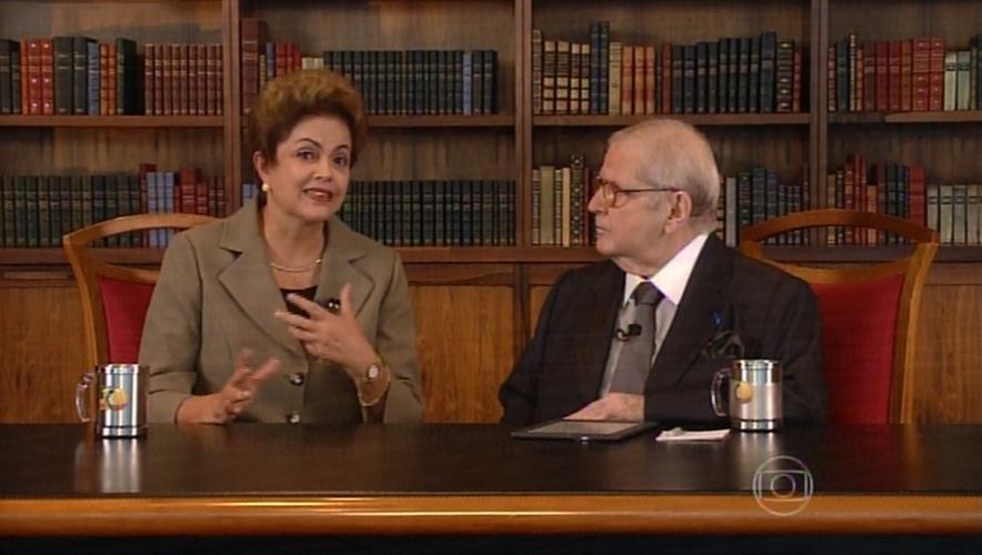 Jô Soares entrevista a presidente da República Dilma Rousseff