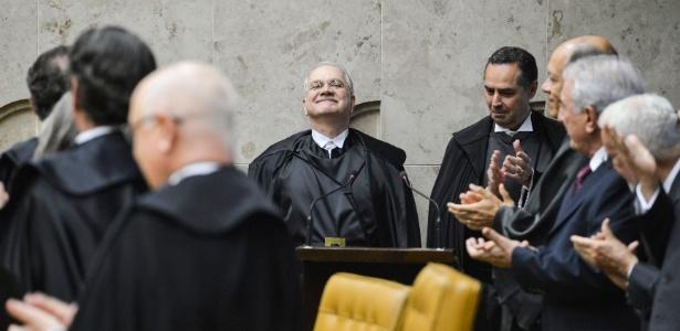 O ministro do Supremo Tribunal Federal (STF) Luiz Edson Fachin (centro)