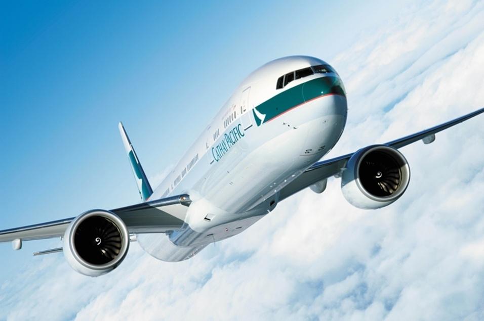 Avião Boeing 777-300 da Cathay Pacific Airways