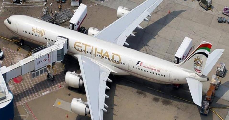 Avião da Etihad Airways