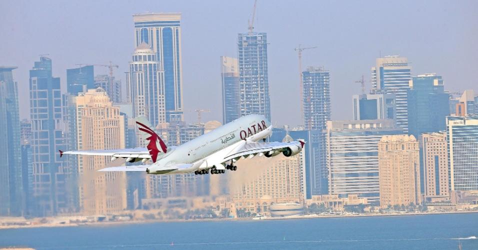 Avião da Qatar Airways, companhia aérea do Qatar