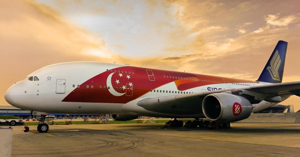 Avião da Singapore Airlines
