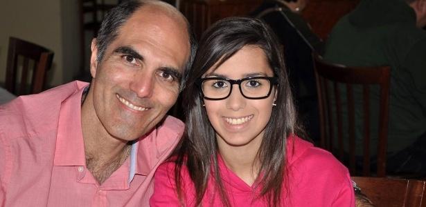 O operador de turismo Paulo Machado e sua filha, Catarina