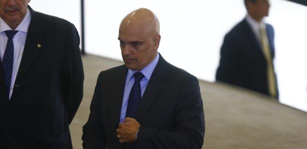 Alexandre de Moraes, então ministro da Justiça, durante solenidade de anúncio das novas medidas no programa Minha Casa, Minha Vida