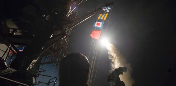 Donald Trump fala em Mar-a-Lago após o ataque contra o governo sírio