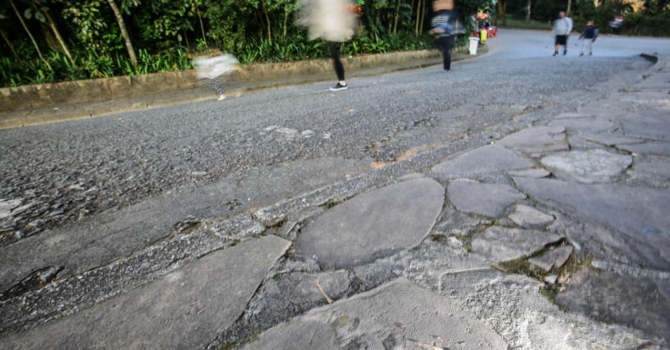 6.jul.2017 - Parque zoológico de São Paulo tem pedras com vestígios de animais de 140 milhões de anos