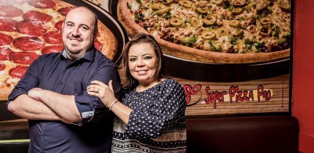 Super Pizza Pan sócios Cristian Oalter Durante e Ana Luiza Rocha