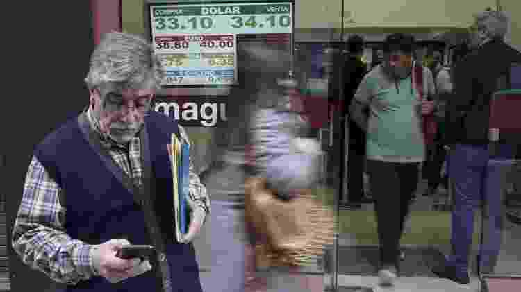 Os argentinos recorrem ao dólar quando veem que seu preço está cada vez mais alto - Eitan Abramovich/AFP - Eitan Abramovich/AFP