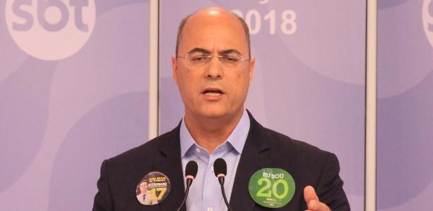 23.out.2018 - Witzel participa de debate promovido por SBT, UOL e Folha de S.Paulo