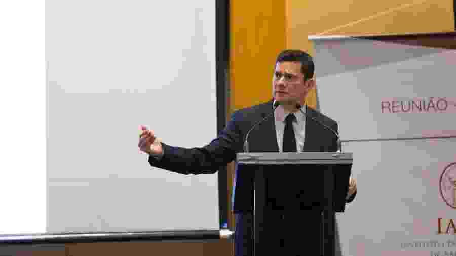 O ministro da Justiça, Sergio Moro, durante almoço organizado pelo Iasp (Instituto dos Advogados de São Paulo), no Hotel Hyatt, em SP - Paulo Lopes/FuturaPress/Estadão Conteúdo