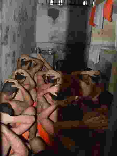 Cadeia sem identificação visitada pelo Mecanismo de Prevenção e Combate à Tortura no Ceará - Divulgação/Mecanismo de Prevenção e Combate à Tortura
