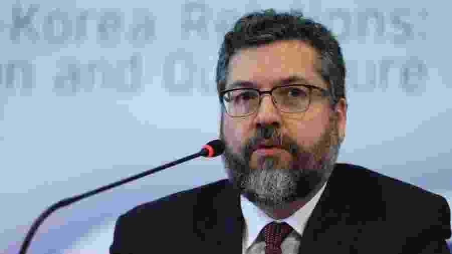 Ministro Ernesto Araújo criticou o PT em evento nos Estados Unidos - José Cruz/Agência Brasil