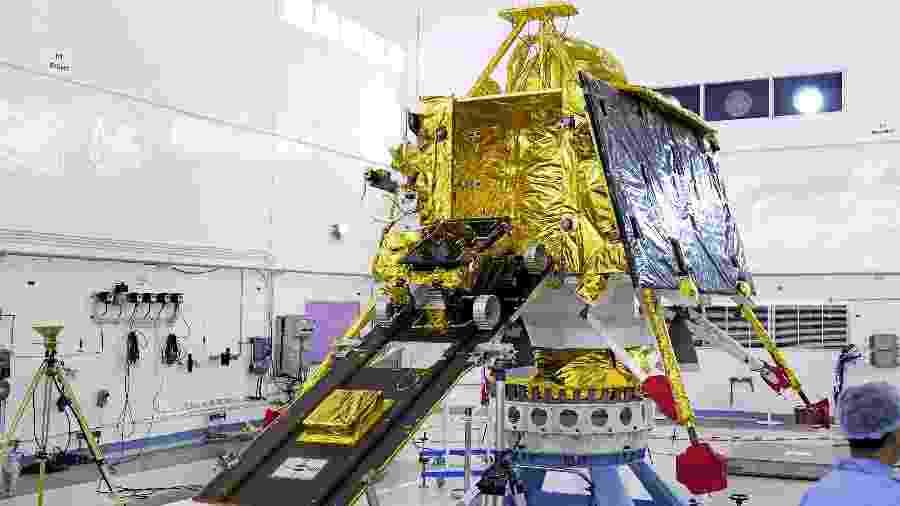 Sonda Vikram, da missão espacial indiana Chandrayaan-2 - Divulgação/ISRO