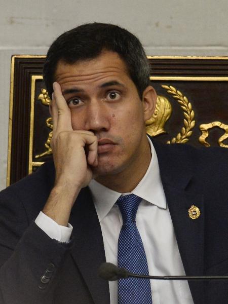Juan Guaidó, líder da oposição venezuelana - Matias Delacroix/AFP