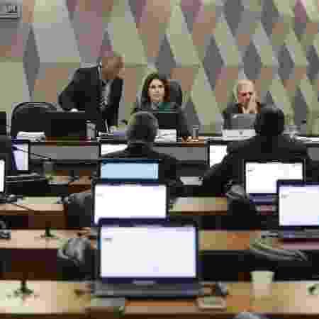 Sessão da CCJ do Senado na qual foi aprovada a reforma da Previdência - GABRIELA BILÓ/ESTADÃO CONTEÚDO