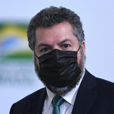 17.dez.2020 - O ministro das Relações Exteriores, Ernesto Araújo, durante cerimônia de lançamento da Retomada do Turismo - Edu Andrade/Fatopress/Estadão Conteúdo