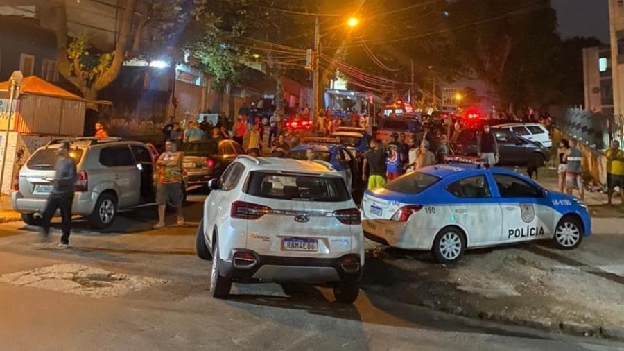 PM foi acionada após o guarda atirar e matar três pessoas - Reprodução/Redes Sociais