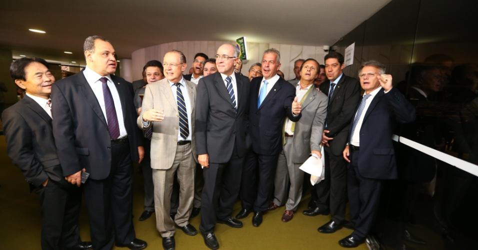 15.abr.2016 - A permanência da presidenta Dilma Rousseff à frente do país começa a ser debatida, pelo plenário da Câmara dos Deputados, em Brasília. Pela manhã, deputados já se encontravam no plenário aguardando o início da sessão
