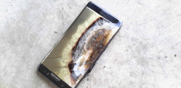 Galaxy Note 7 queimado