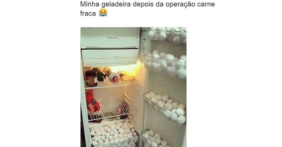 Memes da carne: geladeira cheia de ovos