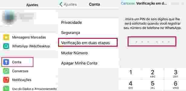 WhatsApp - autenticação em dois fatores - Reprodução - Reprodução