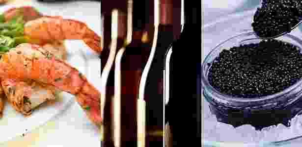 Exército faz licitação para abastecimento de hotéis com camarão, vinhos e caviar - Arte/UOL