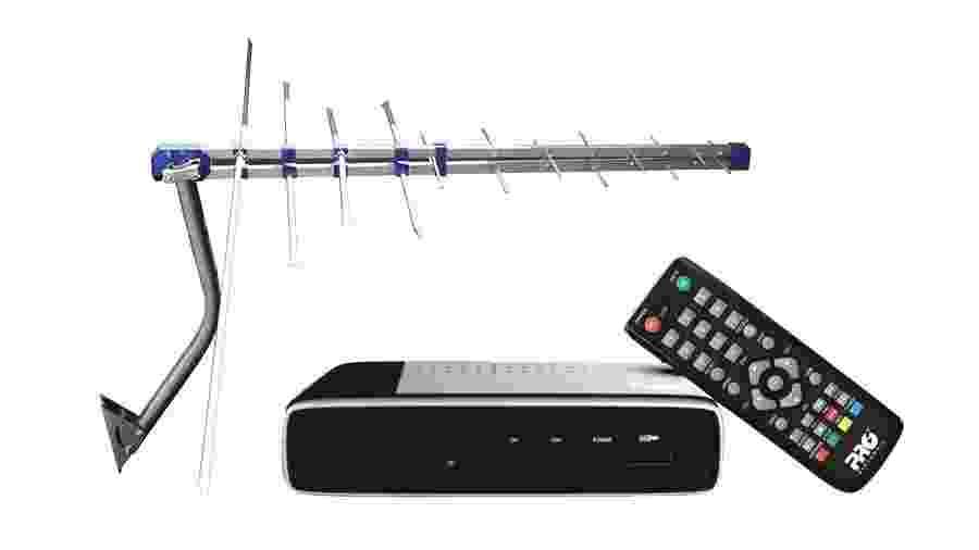 Um conversor de TV digital - Reprodução