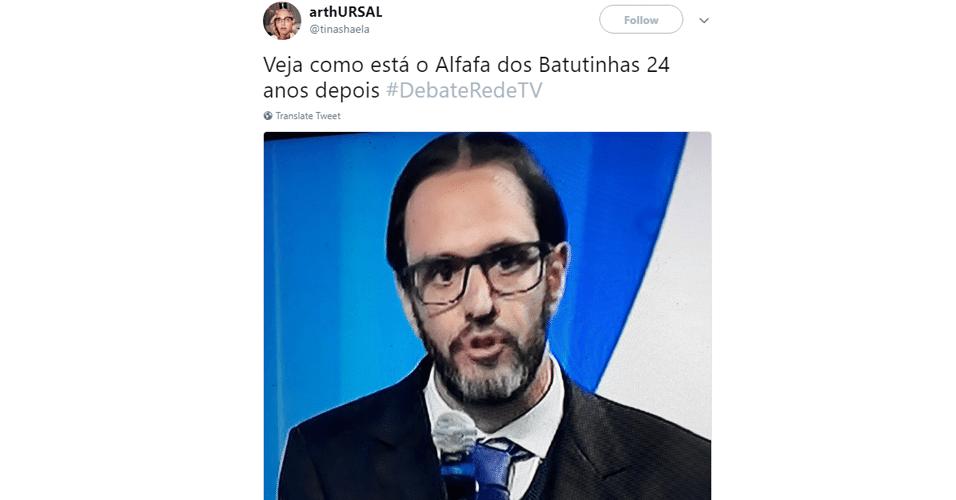 Meme jornalista do debate da RedeTV!