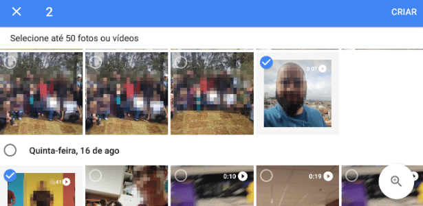 0cf5a9317a ... o Google Fotos dá naquela tela opções automáticas de filme por temas  populares --crianças crescendo, gatos, cachorros, selfies etc.