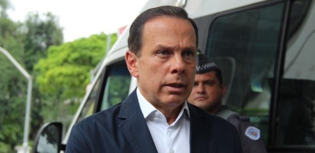 09.out.2018 - João Doria durante gravação de programa eleitoral no Jardim Europa