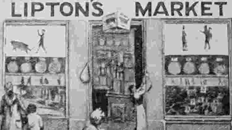 A primeira loja Lipton em Glasgow mostrou ser um sucesso - BBC - BBC