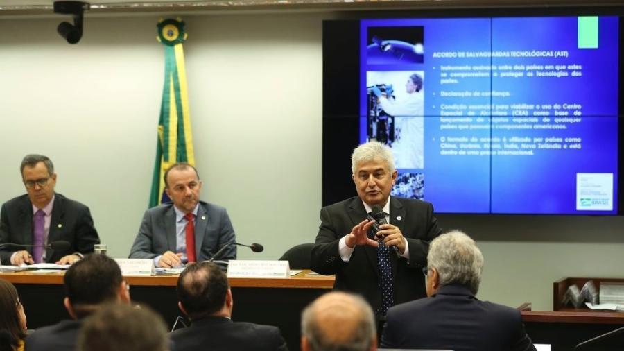 Ministro Marcos Pontes participou de audiência na Câmara dos Deputados para explicar acordo com Estados Unidos - José Cruz/Agência Brasil