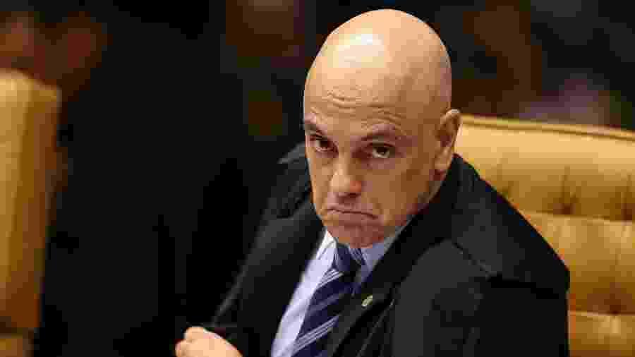 O ministro Alexandre de Moraes durante sessão no STF - Pedro Ladeira/Folhapress
