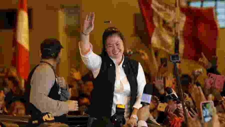 Keiko Fujimori, que saiu da prisão no fim de novembro, nega as acusações - Guadalupe Pardo/Reuters