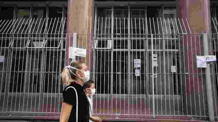Prédio do INSS no centro de São Paulo fechado devido à pandemia do novo coronavírus - Andre Porto/UOL