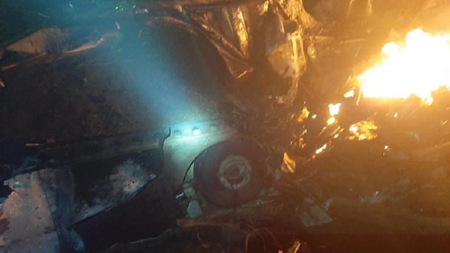 Aeronave caiu na noite desta sexta-feira na serra da Ibiapaba, no Ceará - Divulgação
