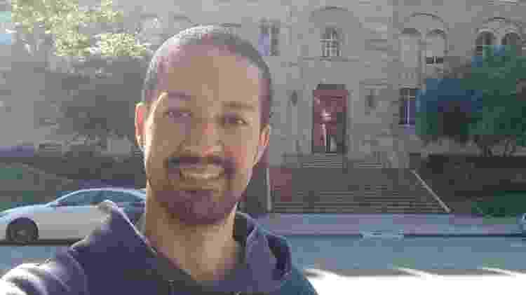 Jean Ribeiro, no campus da UCLA, onde faz doutorado em engenharia aeroespacial - Arquivo Pessoal - Arquivo Pessoal
