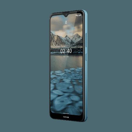 Frente do novo Nokia 2.4 - Divulgação - Divulgação