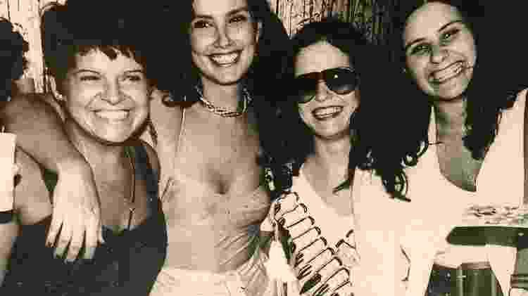 Leila (segunda, da esq. para a dir.), com a frenética Leiloca, a atriz Denise Dumont e a cantora Fafá de Belém - Arquivo Pessoal/Tathiana Cravo - Arquivo Pessoal/Tathiana Cravo