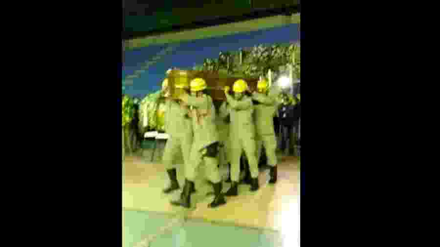 Corpo de Maguito Vilela chega ao Ginásio de Esportes de Jataí (GO) para ser velado - Reprodução/Facebook/Prefeitura de Jataí