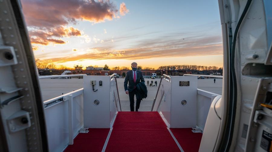 O presidente norte-americano Joe Biden passava o final de semana na sua cidade natal, Wilmington. - Adam Schultz
