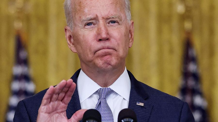 Joe Biden discursa na Casa Branca, em Washington - Evelyn Hockstein/Reuters